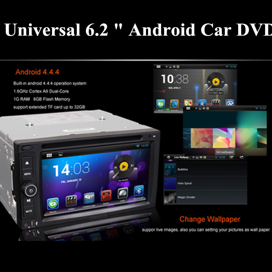 6 2 Android 4 4 4 OS Wifi 3G Car DVD Player GPS Nav Radio Stereo