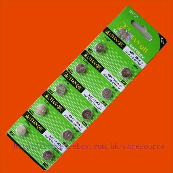 10PCS AG7 LR927 395 SR927SW alkaline battery TIANQIU