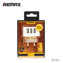 Buy Original Remax Mobile Charger 3 USB Output Charger EU UK Plug iPad iPhone Samsung Huawei Xiaomi 2.1A Travel Power Adapter for $7.00 in AliExpress store