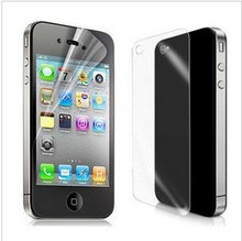 6pcs (3 Front+3 Back) Ultra Clear Screen Protector For iPhone 4 Screen Guard Protective Film For iPhone 4s