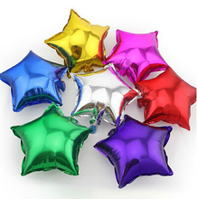 5 pcs/lot 2016 New Romantic Wedding Decor 25CM Star Foil Helium Balloons Birthday Wedding Anniversary Party Supplies(China (Mainland))