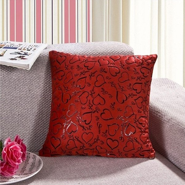 2016 Hot Sale Red Decorative Heart Pattern Pillowcase Soft Home Decor Bed Sofa Throw Pillow ...