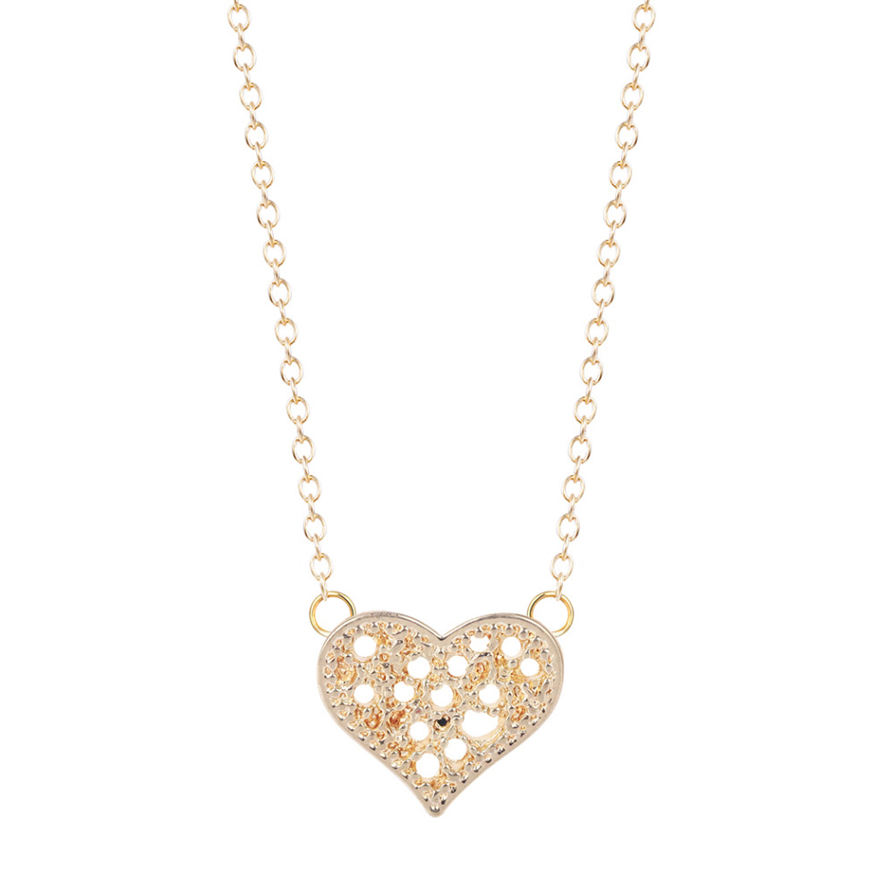 Wholesale fashion jewelry New Arrival Filigree Heart Necklace designer jewellery friendship best friend mother daughter(China (Mainland))