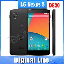 Original Google LG Nexus 5 D820 D821 Cell Phone 3G/4G GPS Wifi NFC Quad Core 2GB RAM 16G/32G Storage 4.95'' Touch Unlocked Phone(China (Mainland))