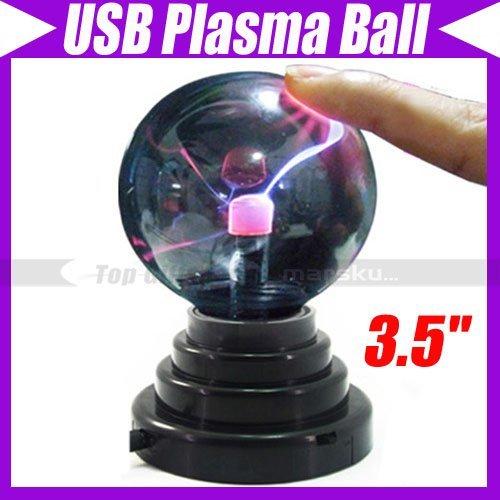 USB Glass Plasma Ball Sphere Lightning Light Lamp Party #550