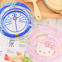Latest Listing Hello Kitty Cartoon Lovely Glass Ashtray Creative Fashion Personality Bedside For Home Office Use(China (Mainland))