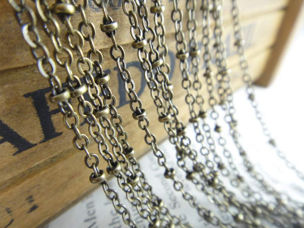 factory/10M(32Ft)  2mm Bronze Oblate Bead Link Chain Findings - soldered Chain C05  free shipping<br><br>Aliexpress