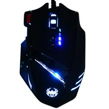 ZELOTES C-12 Wired USB Optical Gaming Mouse 7 LED Lights 12 Key Adjustable 4000DPI Computer Mouse Mice Cable Mouse for Pro Gamer(China (Mainland))
