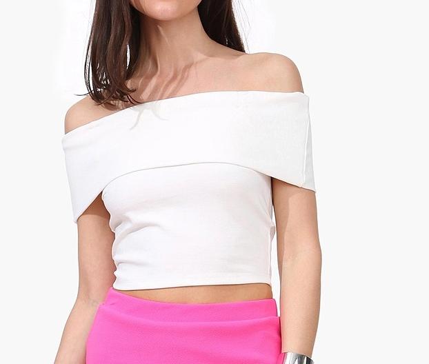 2015 spring new european style female strapless short for Strapless t shirt bra