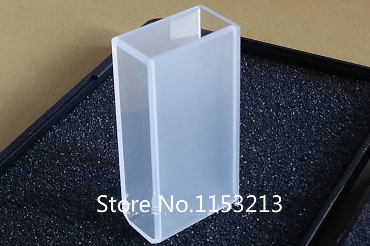 2pcs JGS1 Melt Quartz Cuvette 20mm spectrometer Round cell cuvette Sided translucent, acid and alkali-resistant for export