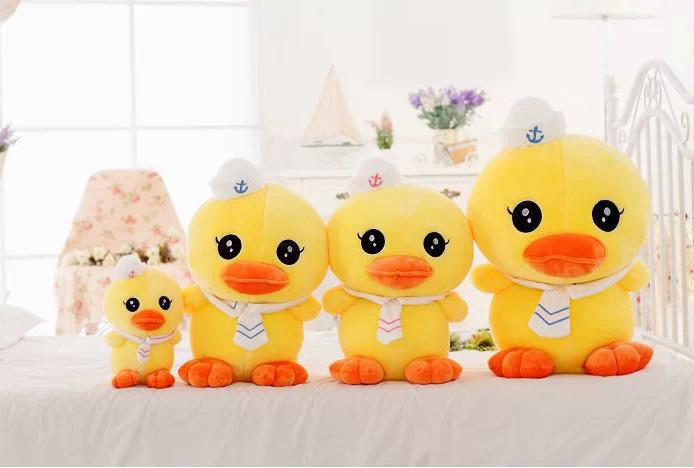 Wholesale new 25 cm navy rhubarb duck doll plush toys children cute doll(China (Mainland))
