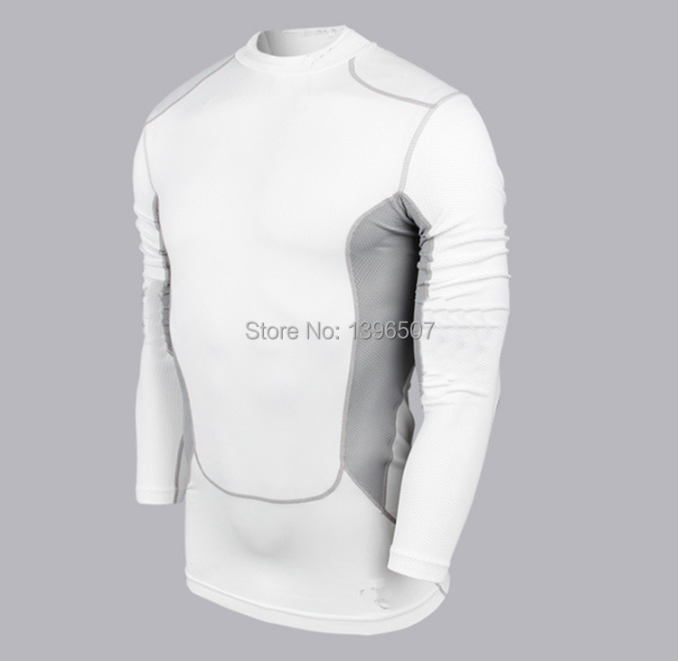 2015New Sports long sleeve T-shirt Basketball training jersey Sports PRO Vest Quick Dry urltra-light dry fit show muscle Fitness(China (Mainland))