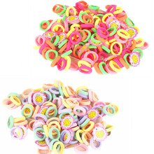 Buy Free Hair Ties 50 Pcs/lot Candy Color 2.5cm diameter Seamless Elastic Ropes Girls' Hair Bands Kids Hair Accessories for $1.51 in AliExpress store