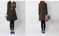 Новая осенняя женщина одежду женской моды одежды женщин длинные рукава Мини cutedress Мори девушка цветок печатных платья 0914k