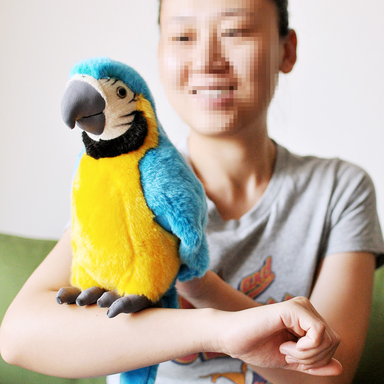 lovely plush simulation blue parrot toy macaw toy cute mara parrot toy gift about 26cm( - lovely-plush-simulation-blue-parrot-toy-macaw-toy-cute-mara-parrot-toy-gift-about-26cm