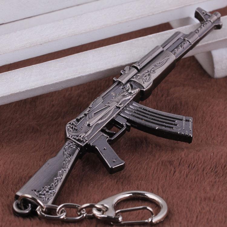 AK47 Model Keychain Cross Fire CF Metal Pendant Key Chain Automatic Rifle ak 47 Gun Figure Jewelry Men Toy Accessories Keyring  -  VEIA Discount Store store
