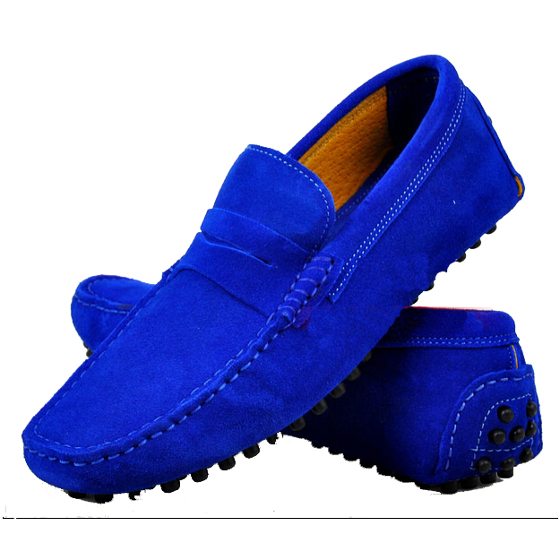 2015 Hot Men Loafers Fashion Summer Flats Genuine Leather Shoes Casual Men's Nubuck Loafer Plus Size - China Resources Store store