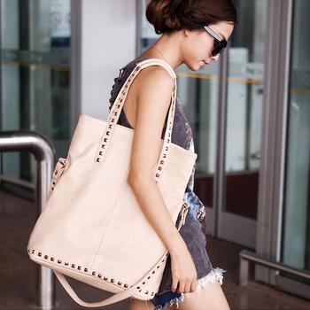 2015 A/W Rock Stylish Pyramid Studded Shoulder Bag Medium Size Laptop Handbag Promotion! ACET0083