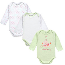 Retail 3 Pieces/lot Cartoon Style Baby Girl Boy Winter Clothes New Born Body Baby Ropa Bebe Next Baby Bodysuit(China (Mainland))