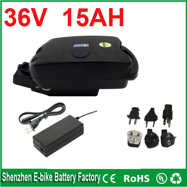 Free shipping 36v 15ah electric bicycle lithium ion battery 36v 15ah F rog case ebike li-ion battery kettle ebike battery<br><br>Aliexpress