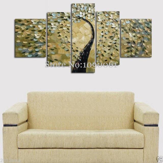 hand 5 piece wall art canvas huge modern abstract palette. Black Bedroom Furniture Sets. Home Design Ideas