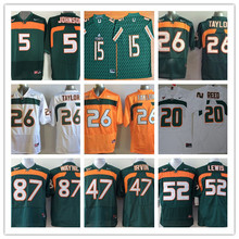 100% Stitiched,Miami Hurricanes,Sean Taylor,Andre Johnson 5 Brad Kaaya 15 Ed Reed 20 Ray Lewis 52 Reggie Wayne 87,camouflage(China (Mainland))