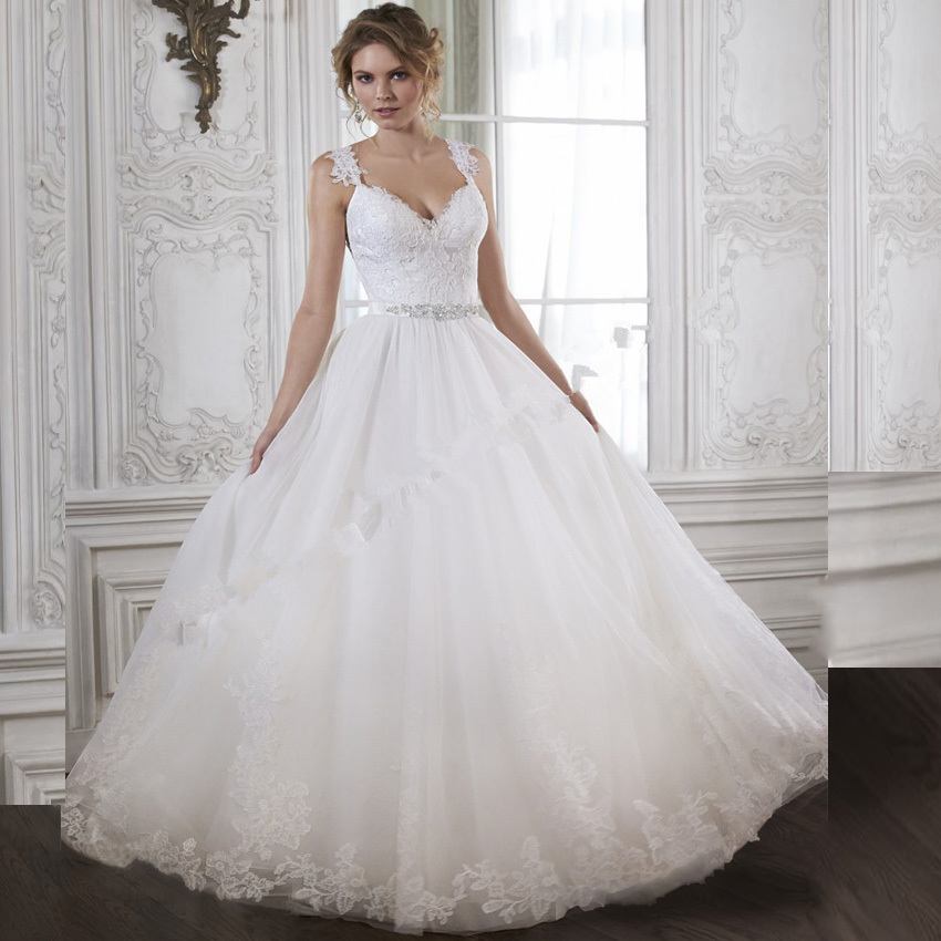 vnaix w397 lace a line wedding dresses 2015 with lace spaghetti straps