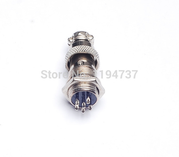 3pcs free shipping Big air plug 6p quad interface diameter 16mm gx16-6 core cable connector(China (Mainland))