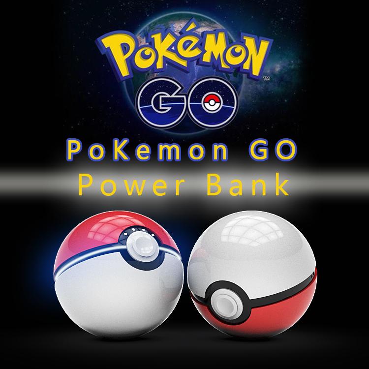 12000mAh Pokeball Go Power bank Pokeball 12000 Mah Powerbank LED Quick Phone Charge Power Bank Cartoon 3D External Battery