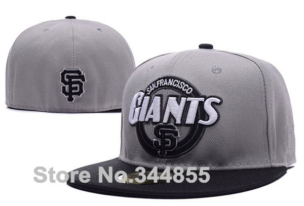 Classic San Francisco Giants Baseball Fitted Hats Men's SF Flat Full Closed Caps Team Logo Embroidery at Back(China (Mainland))