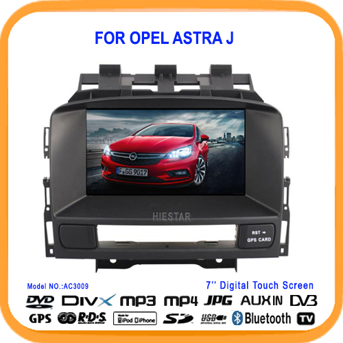 Car Radio DVD with GPS Navigation Steering Wheel Control Automotive Aux In Bluetooth 7'' Inch Touch Screen For Opel Astra J(Hong Kong)