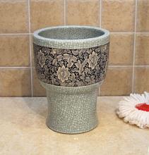Jingdezhen Ceramic Sink mop bucket body mop pool mop pool 30 cm crack porcelain art(China (Mainland))