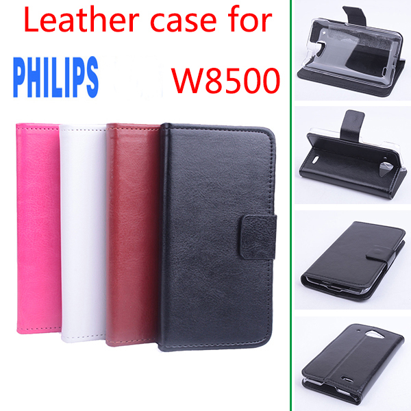 For Philips W8500 Case For W8500 Ultra Slim Horizontal PU Leather Case For Philips Xenium W8500 Phone Cases Cover For W 8500(China (Mainland))