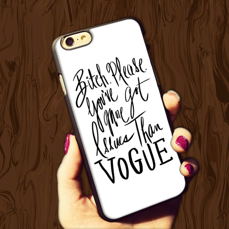"""Fashionable 2015 More Issues than Vogue Black Quotes Chic Hard Luxury Case for iphone 6 4.7"""" and i6 5.5"""" plus Cover(China (Mainland))"""