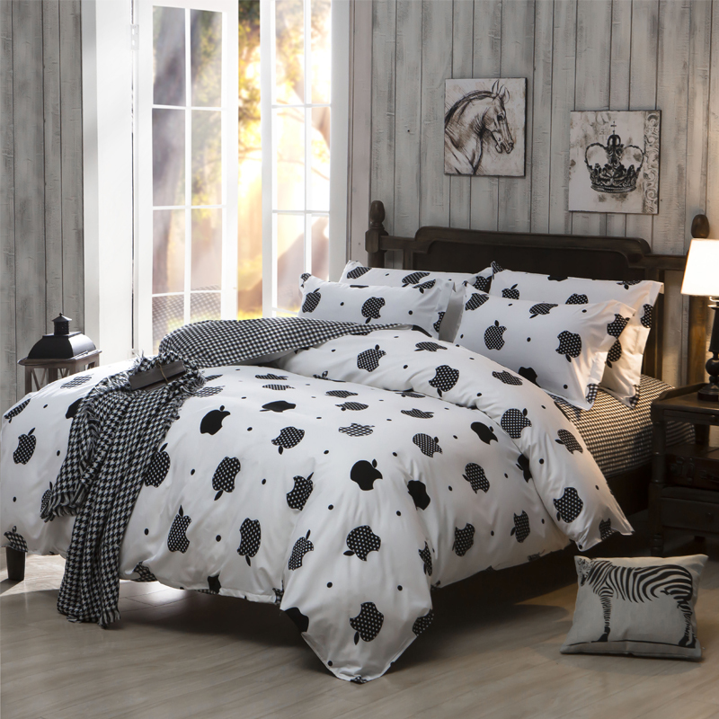 bedding sets cheap polyester cotton bed sheet set king queen full size comforter bedcover set. Black Bedroom Furniture Sets. Home Design Ideas