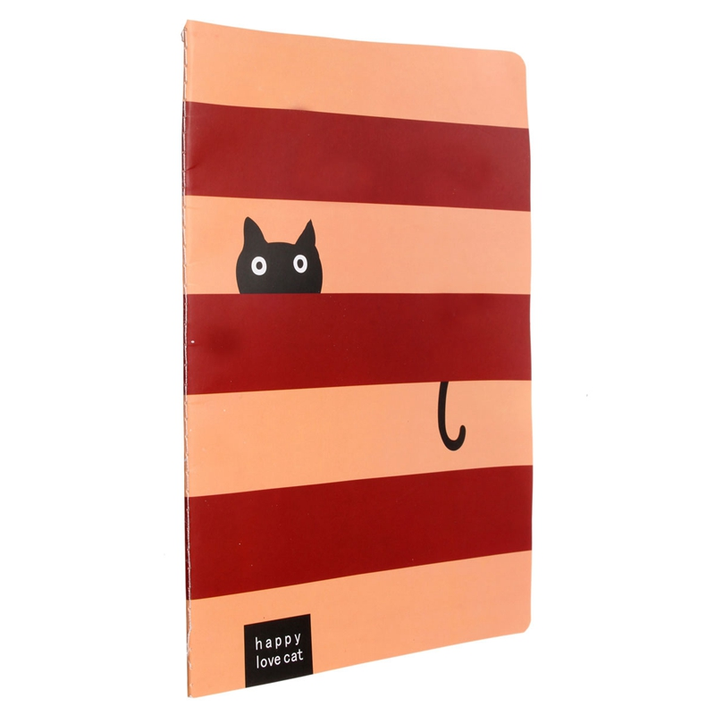 Cute Cat Animal Paper Blank Pages Big Notebook Journal Diary Notepad Memo Note Book Office School Supplies Color Randomly(China (Mainland))