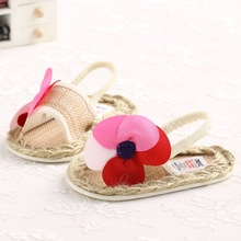 Newborn Baby New Fashion Baby Girls Summer Shoes Kids Shoes Big Flower First Walkers Anti-slip Shoes Free shipping For Newborn(China (Mainland))