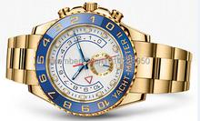 2014 hombres de moda deportivo de lujo de las reloj YACHT MASTER II automático bisel de cerámica original oyster perpetual hombre relojes