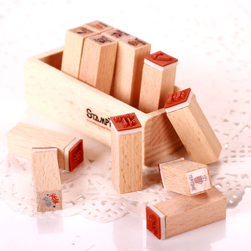 DIY Stamp A set of stamps has 12 small stamp Cute diary seal Free shiping(China (Mainland))