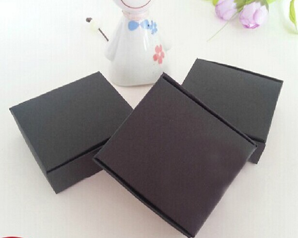 7.2*7.2*2.5cm Black Kraft Paper Drawer Box,Handmade stuff Craft gift packing/ flip Clamshell box DHL free shipping 200piece\lot(China (Mainland))