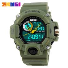 2016 New Arrival style Quartz Digital Dual Time Watches Men Fashion Man Sports Watches Luxury Brand Skmei Military Army Reloje