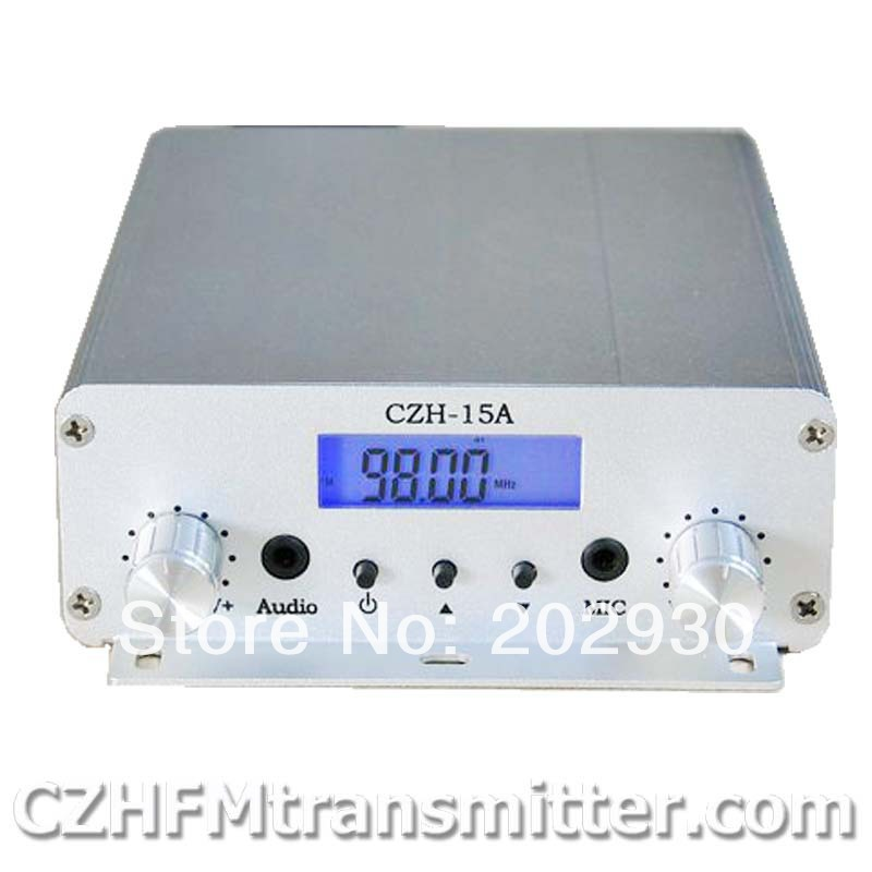 15W V FM stereo PLL broadcast transmitter 87.5-108mhz free shipping(China (Mainland))