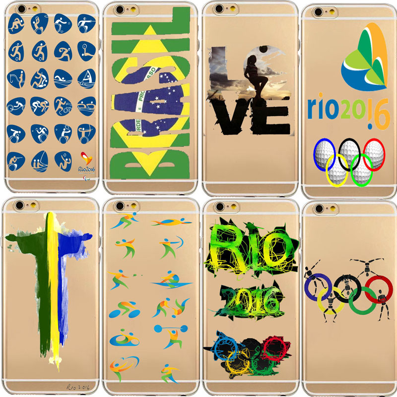 Phone Case For Carcasa iphone 6 Plus Back Cover 2016 Brazil Rio Olympic Games Thin Cell Phone For Coque Iphone 6S 5S 6S Plus(China (Mainland))