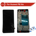 For Huawei P8 Lite LCD Screen Display With Touch Screen Digitizer Assembly with frame Black or