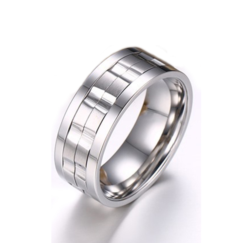 2016 New Wedding Ring Quality Titanium Jewelry for Men and Women 18K Gold Silver Plated Stainless Steel Ring Spinner Ring(China (Mainland))