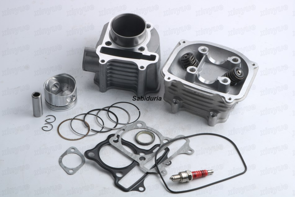 Scooter 152QMI 125cc 52.4mm GY6 Engine Rebuild Kit Cylinder Kit Cylinder Head Chinese Scooter