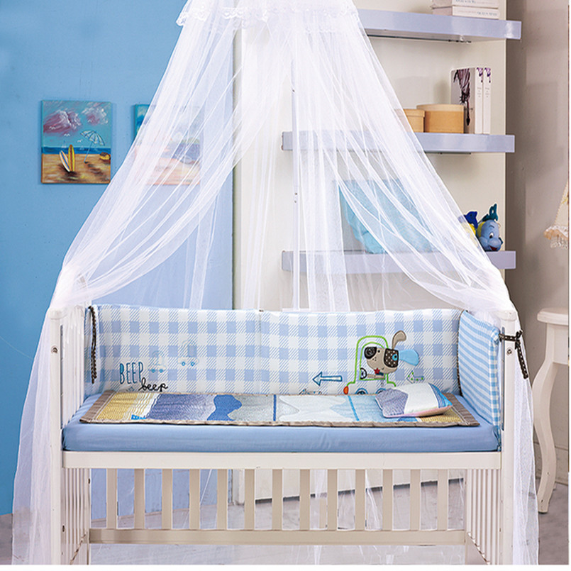 Baby crib infant bed mosquito net big size palace baby for Baby crib net