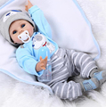 Best Christmas Kids Toys 22 inch silicone reborn babies for sale real soft handmade dolls toys