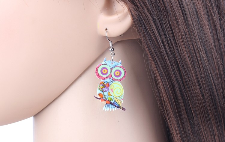 Bonsny Brand Jewelry Sets Owl Pendant Drop Earrings New 2015 Statement Fashion Jewelry For Women Charm Collar Accessories