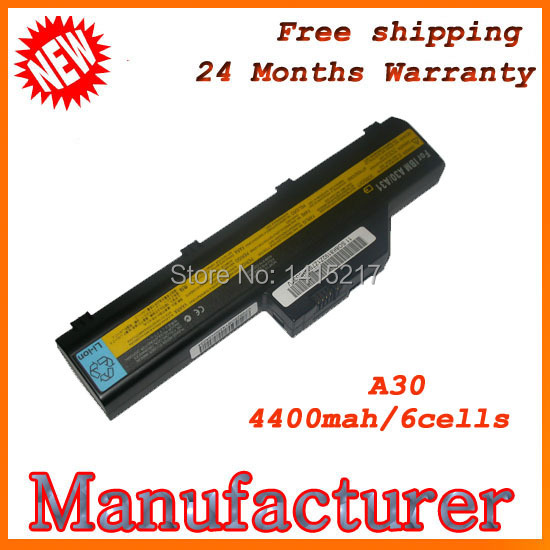 Free shipping 100% New Laptop battery For IBM ThinkPad A30 A30P A31 A31P(China (Mainland))
